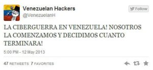 Hackers venezolanos le declaran la guerra a Nicolás Maduro