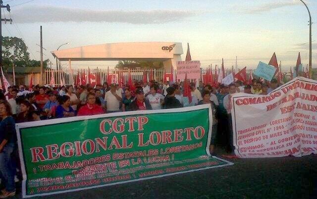 CGTP bloquea aeropuerto de Iquitos e impide entrada y salida de aviones