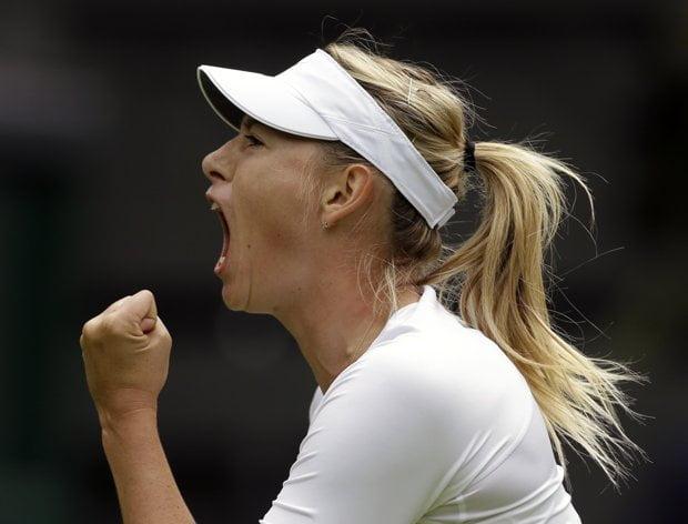 Sharapova tuvo un debut auspicioso en el Grand Slam británico.
