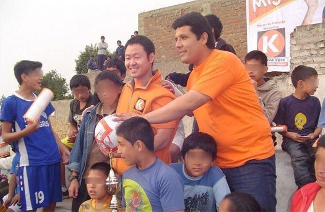 (Foto: miguelramirez.com.pe) Kenji Fujimori y Miguel Ramírez en campaña
