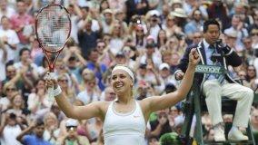 La alemana Sabine Lisicki sorprendió en Londres al eliminar a Serena Williams.