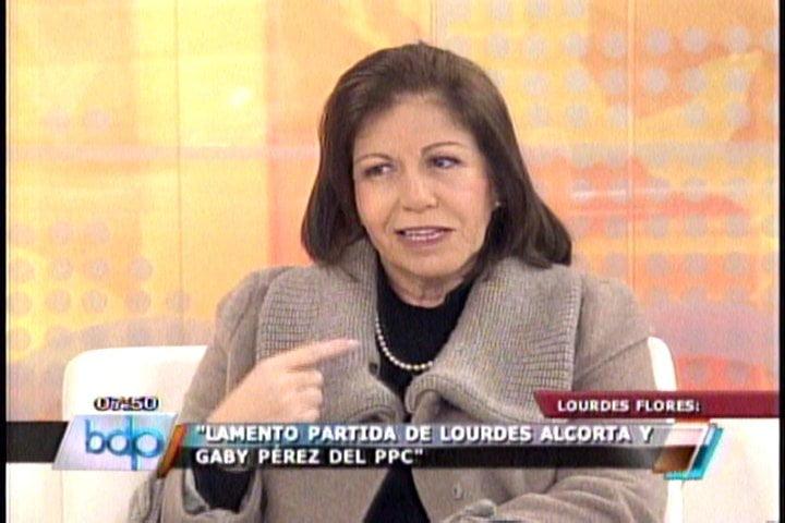 """Lourdes Flores: """"Lamento renuncias de Alcorta y Gaby pero tenemos más cuadros"""""""