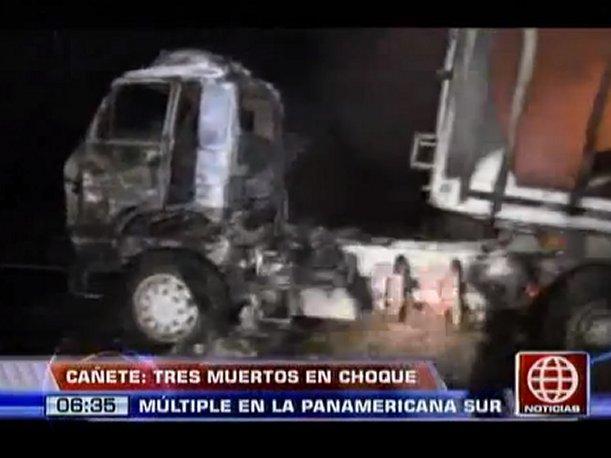 Cañete: Madre, bebé y chofer mueren tras violento accidente vehicular