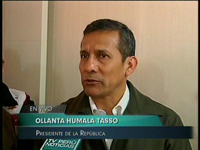 """(Video) Humala jaló las orejas al fútbol y pide seguir a """"matadorcitas"""""""