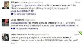 """Duras críticas a MML por llamar """"conflicto armado interno"""" al terrorismo"""