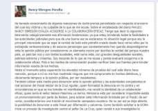 Nancy Obregón revela nombre de supuesto colaborador eficaz y lo amenaza