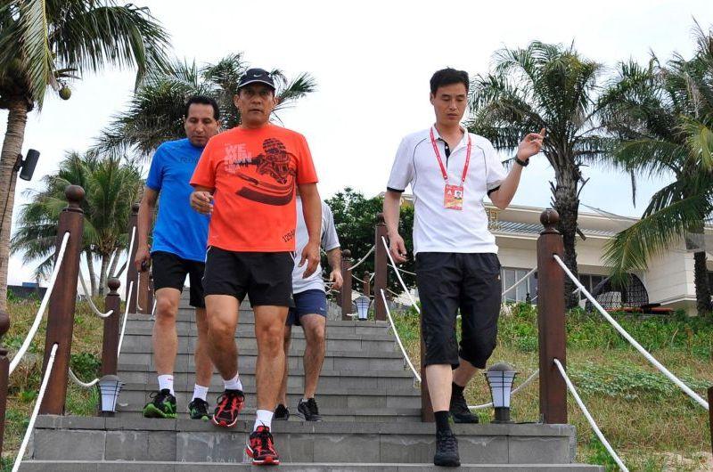 Presidente Ollanta Humala participa de carrera cívico militar