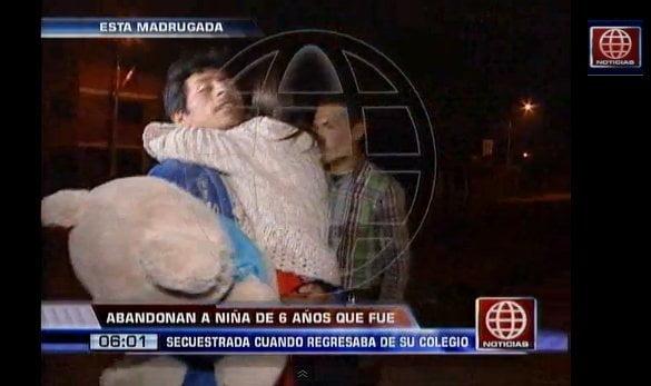 (Video) Aparece sana y salva niña de 6 años secuestrada en Carabayllo