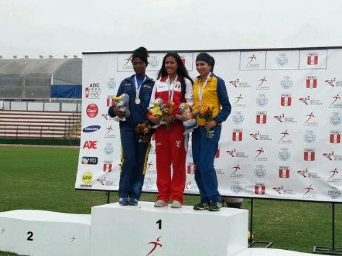 La atleta peruana Alexa Morey fue la mejor en salto de longitud.