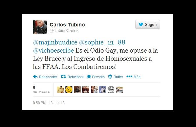 Fujimorista dijo que combatirá a homosexuales y recibe duras críticas en Twitter