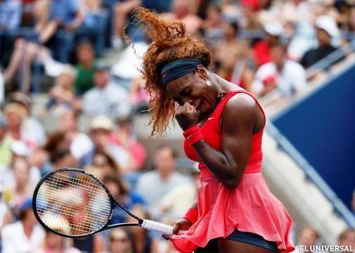 Serena Williams sigue sin conceder un set en el último Grand Slam del año.