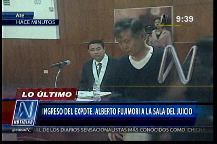 (Foto Canal N) ¿Maniobra o realidad?: Alberto Fujimori demacrado y mal vestido en nuevo juicio