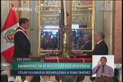 César Villanueva juramenta como nuevo presidente del Consejo de Ministros