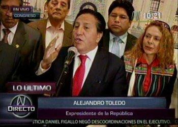 Alejandro Toledo pidió cinco veces 'mil disculpas' por caso Ecoteva