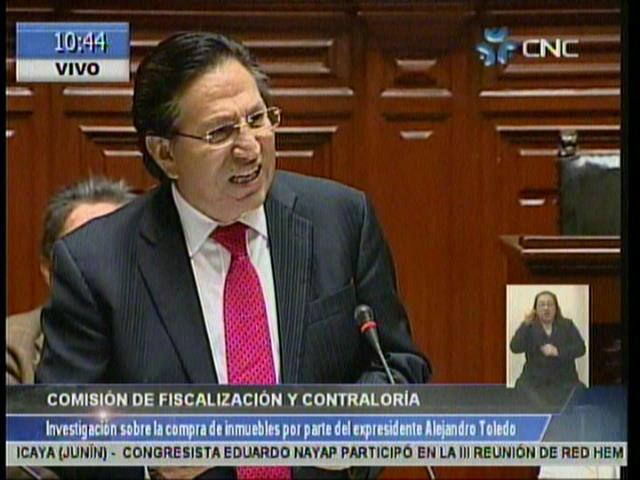 EN VIVO: Toledo declara pero arremete contra comisión de Fiscalización