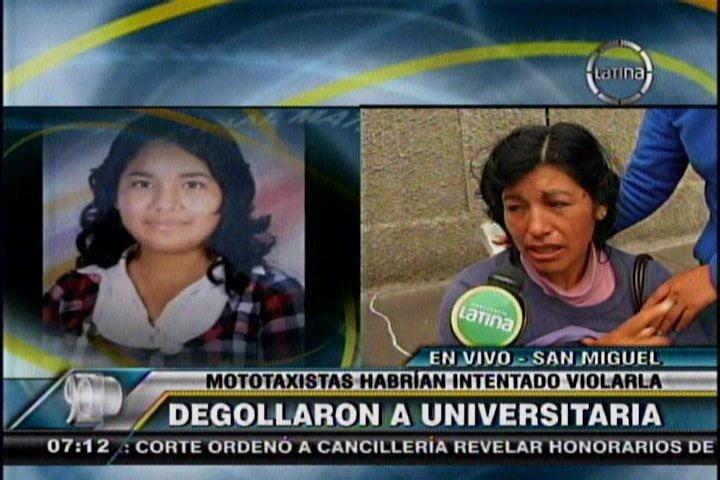 Asesinan a universitaria dentro de mototaxi en San Miguel y PNP nunca llegó