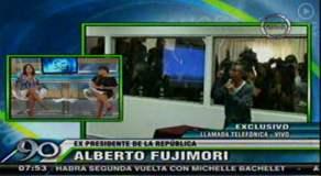 Alberto Fujimori desafía al INPE y llama a canal de TV para entrevista