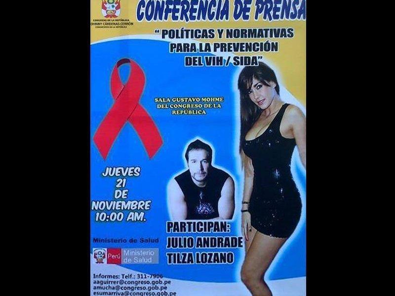 Tilsa Lozano al Congreso para conferencia sobre VIH Sida