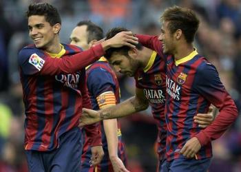 Barcelona goleó al igual que Real y Atlético de Madrid y se mantiene en la punta del campeonato español.