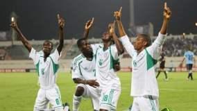 Nigeria y una celebración eufórica tras conseguir su pase a semifinales del mundial sub 17.