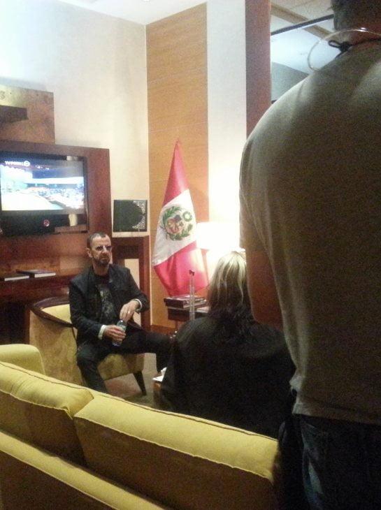 ExBeatle Ringo Starr arribó a Lima y esta es su primera foto