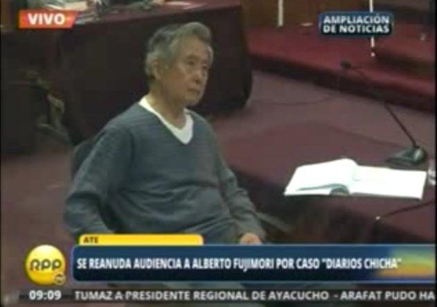 Llaman la atención a Alberto Fujimori, le sube la presión y suspenden audiencia