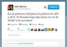 """Alan García pide a Ollanta Humala """"no dividir a los peruanos"""""""