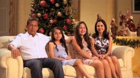[VIDEO] Ollanta Humala y su familia envían saludo navideño a los peruanos