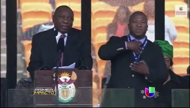 Funelares de Nelson Mandela: Falso interprete dice ser campeón en señas