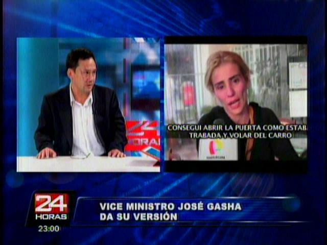 (Video Pantel) Viceministro dice que su esposa sufrió crisis nerviosa y niega agresión