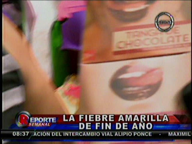 [VIDEO] Recibe el 2014 con la tanga de chocolate, el boom de Gamarra