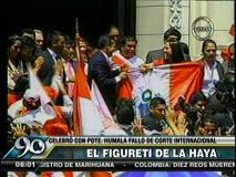 [VIDEO] La Haya: Conoce al figuretti de la TV que abrazó a Humala y Nadine
