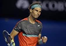 Rafael Nadal fue efectivo contra Monfils y avanzó a octavos de final en Melbourne.
