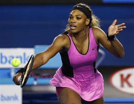 Serena Williams  debutó con solidez en el Abierto de Australia 2014.