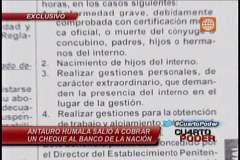 El colmo: Antauro Humala salió de penal para cobrar un cheque bancario