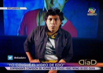 "Video íntimo de Ezio Oliva lo colgó editor de ""Mil Disculpas"""