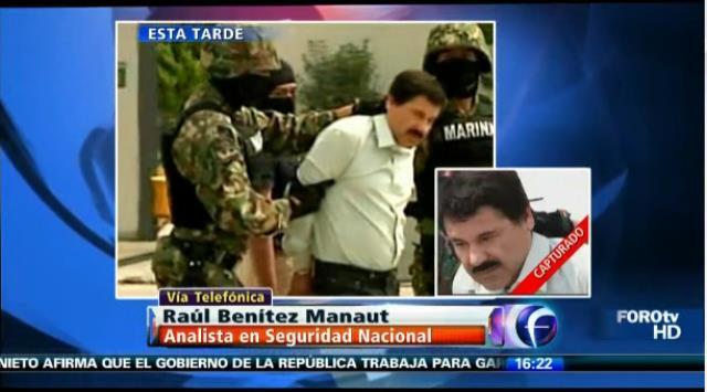 [VIDEO Foro TV] El 'Chapo' Guzmán fue presentado públicamente en México