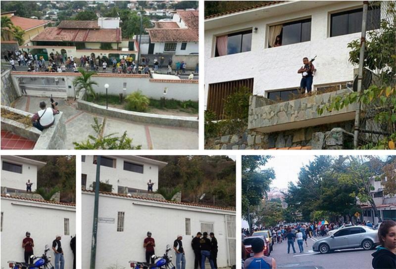 [VIDEO] Con un fusil el general Vivas espera a chavistas que lo quieren detener