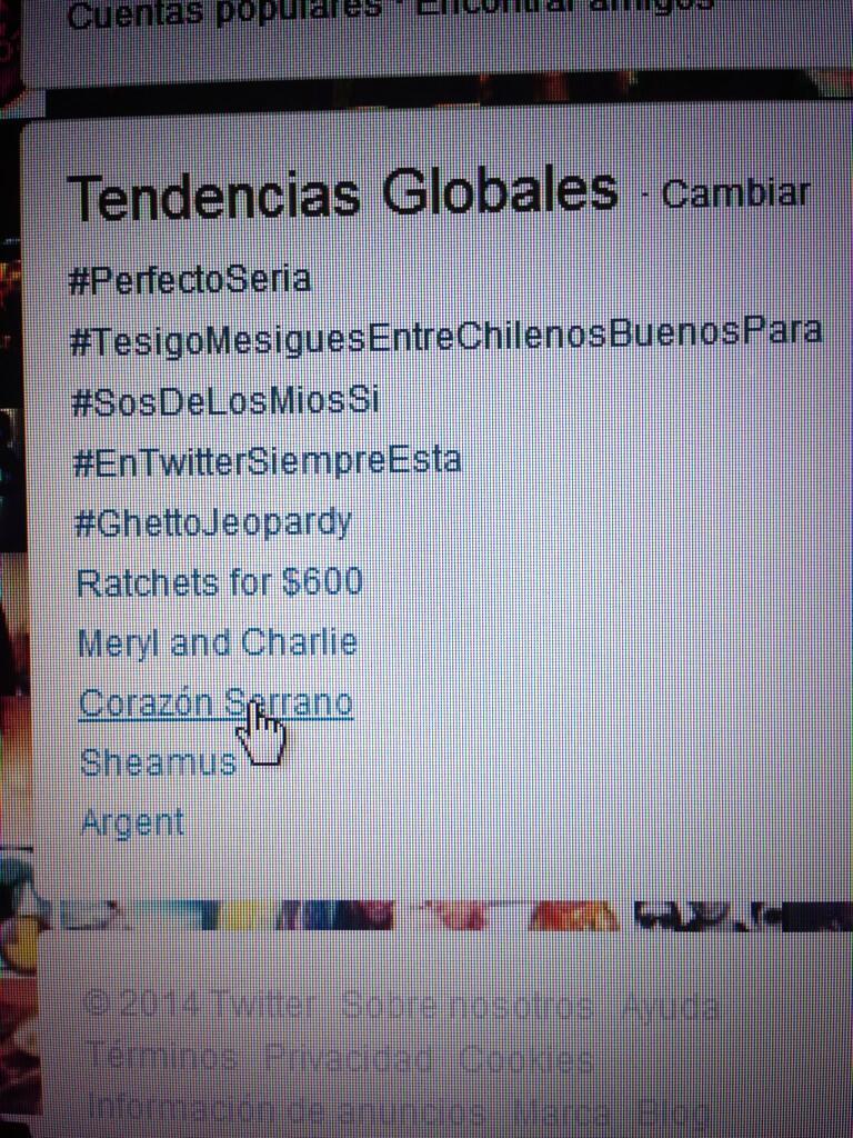 Foto Twitter / Corazón Serrano fue tendencia mundial en Twitter tras 'Yo Soy'