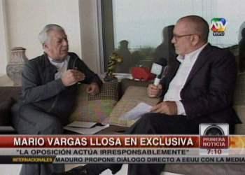 """Vargas Llosa sobre voto de confianza: """"La oposición es irresponsable y Alan está detrás"""""""
