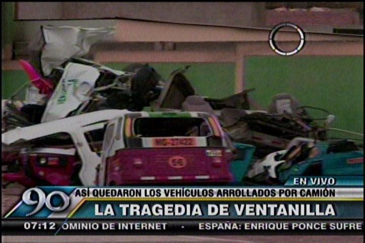 Muerte en Ventanilla: Así quedaron seis vehículo arrollados por camión