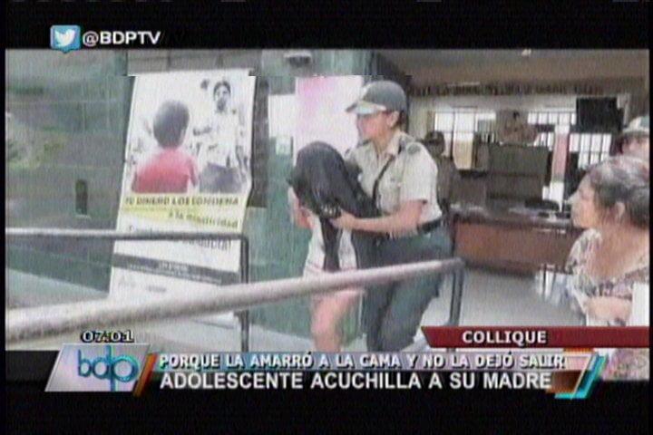 Foto BDP / Menor de 14 años acuchilla a su madre y la deja grave en Comas