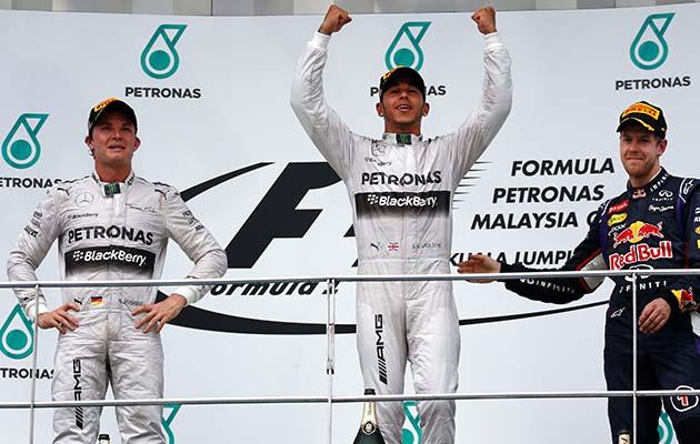 Lewis Hamilton se impuso en Malasia de punta a punta.