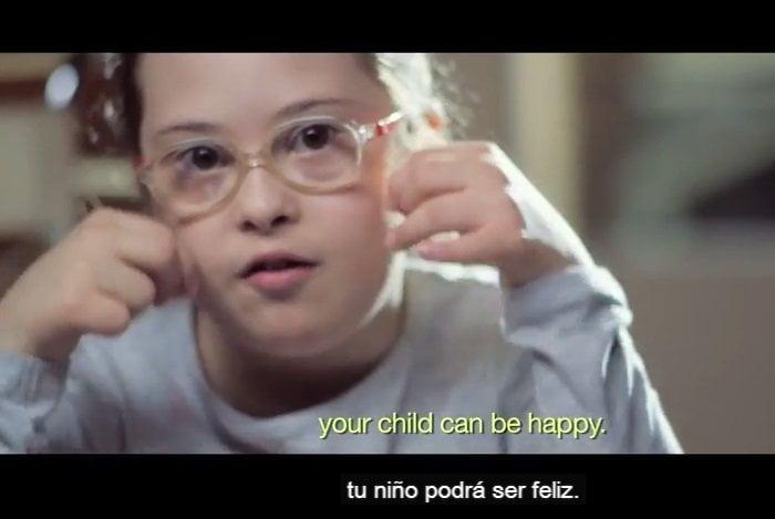 [VIDEO] Emotivo mensaje a madre que tendrá bebé con Síndrome de Down