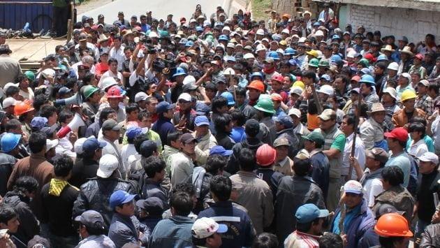 Mineros de varias regiones del país