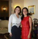 Foto Facebook / Nadine Heredia no se perdió la foto con la 'Gaviota' Angélica Rivera