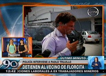 Detienen a Paolo Trujillo, supuesto padre del hijo de Florcita Polo