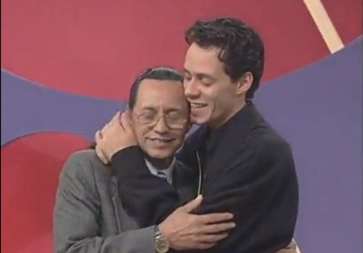 [VIDEO] Emotivo: El día que Marc Anthony cantó con su padre al borde de las lágrimas