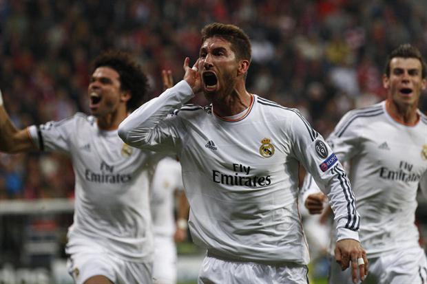 Sergio Ramos abrió el camino de la goleada del Real Madrid sobre el Bayer Munich