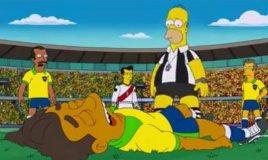 Foto Fox / [VIDEO] Brasil 2014 y los Simpson: Neymar se lesiona y Homero no le cree